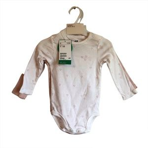 *2/$15* NWT H&M Baby Girl Unisex Long Sleeve Shirt Top Body Suit Set of 2 Pink